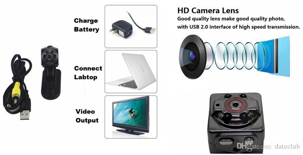 HD 1080P 720P الرياضة كاميرا مصغرة SQ8 البسيطة DV صوت مسجل فيديو الأشعة تحت الحمراء للرؤية الليلية كاميرا رقمية صغيرة كاميرا