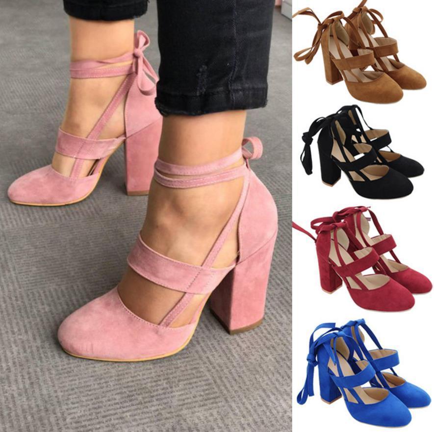Damas Mujer Vestido Bombas Moda Negro Rosa Novia Encajes Gladiador 2018 Mujeres De Tacones Zapatos Altos otdxshQBrC
