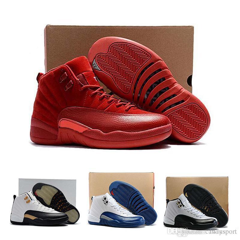 best sneakers fa789 baeed Großhandel Nike Air Max Großhandel 12 Bordeaux Basketball Schuhe Männer  Sport Schuh Bordeaux 12s TAXI Playoff BLACK Wildleder Sport Sportschuhe  Hohe ...