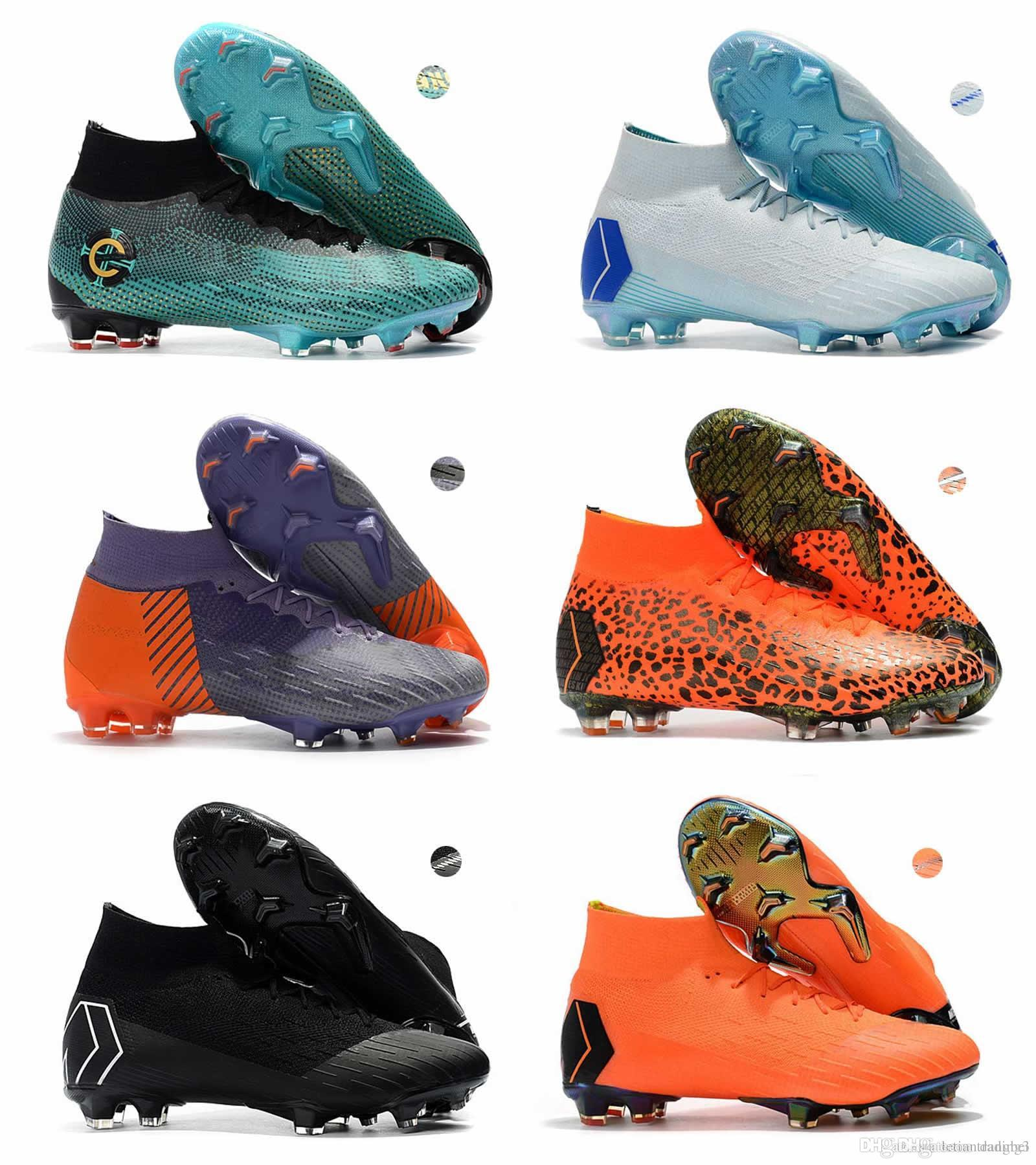 74ccce1c4 2018 Newest World Cup Mens Mercurial Superfly VI 360 Elite FG Football  Boots Neymar JR ACC Outdoor Soccer Shoes Ronaldo Soccer Cleats