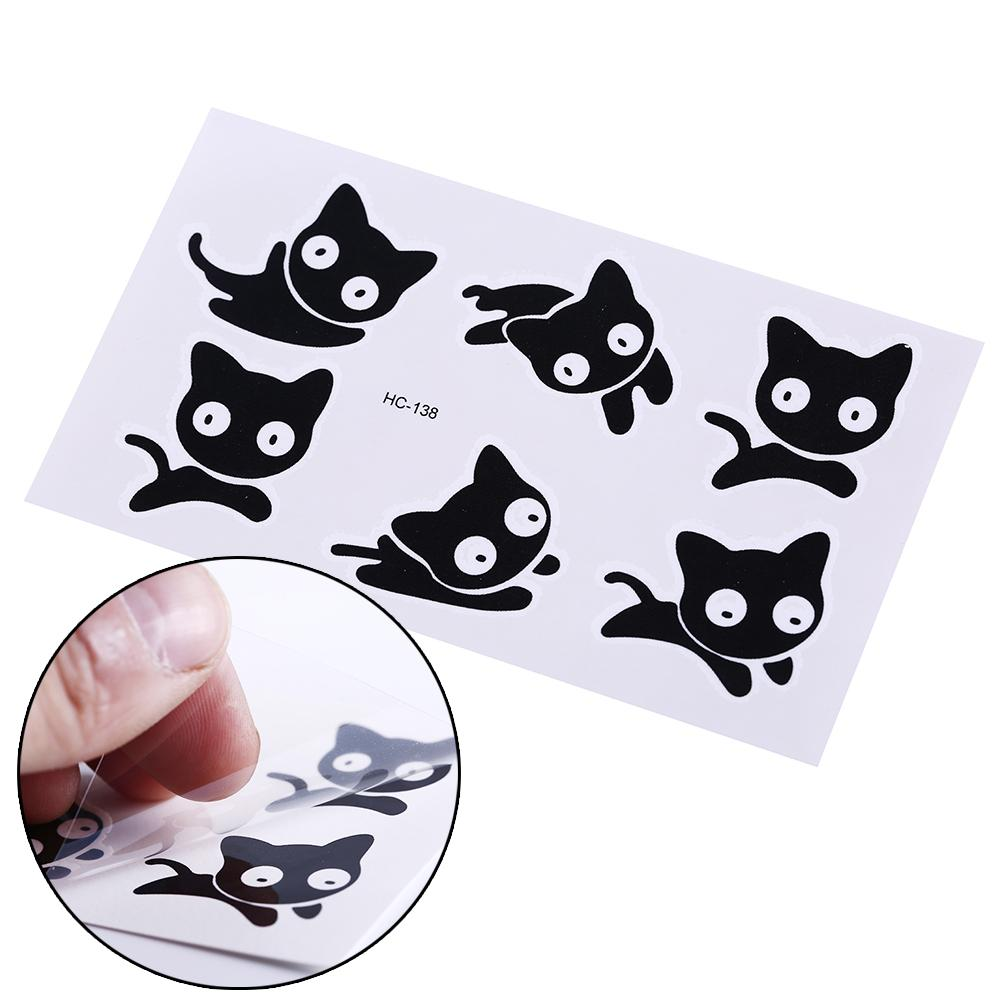 Temporary Small Black Cat Waterproof Temporary Tattoos Tatuajes Temporales  Body Arts Flash Tattoo Henna Xha Tatoo Men And Women Custom Temporary  Tattoos No ... 47ef996f05