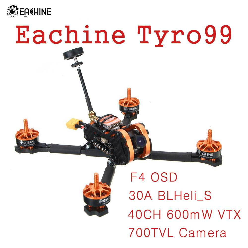 Eachine Tyro99 210mm DIY Version FPV Racing RC Drone Quadcopter F4 OSD 30A BLHeli_S 40CH 600mW VTX 700TVL Camera