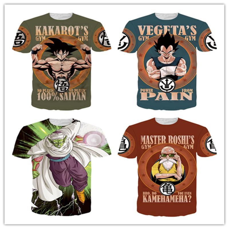 1f569dcf03 Compre Hot DRAGON BALL Goku 3D Camiseta Impresa HD Creativo Divertido  Hombres   Mujeres Verano Japonés Anime Impreso Tops Camisetas Manga Corta A   10.96 Del ...