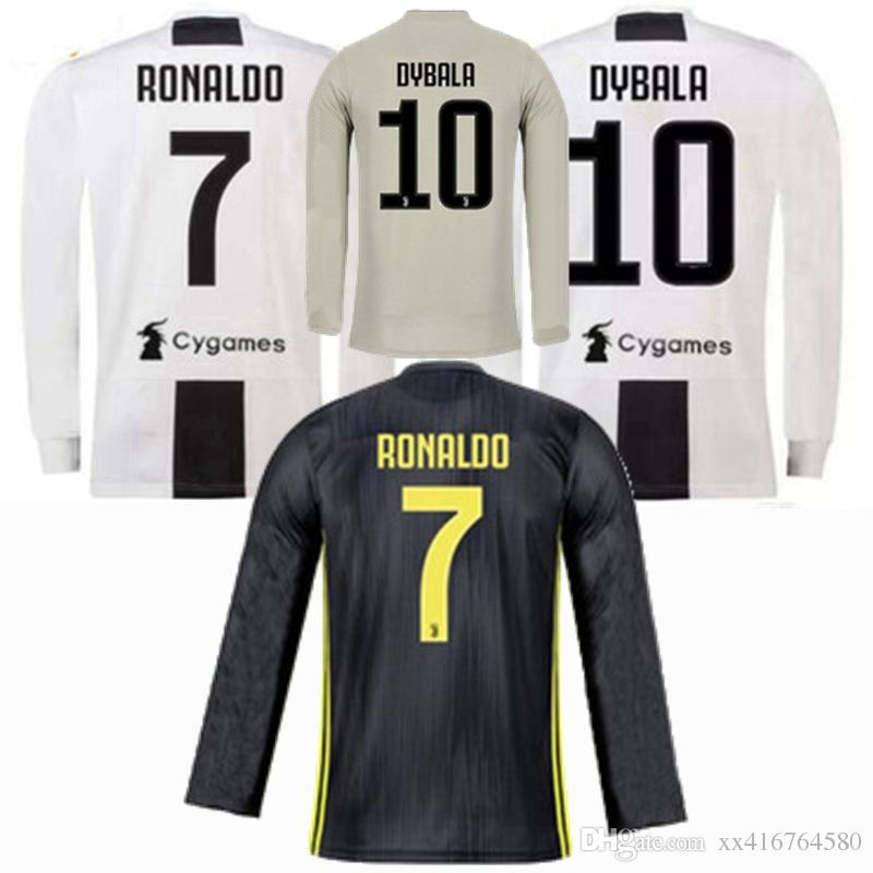 3dc9871f8 2019 DYBALA MATUIDI 18 19 RONALDO Juventus Long Sleeve Soccer Jersey Home  Soccer 2018 2019 Bonucci CHIELLINI PJANIC Away 3rd FOOTBALL Shirt S 2XL  From ...