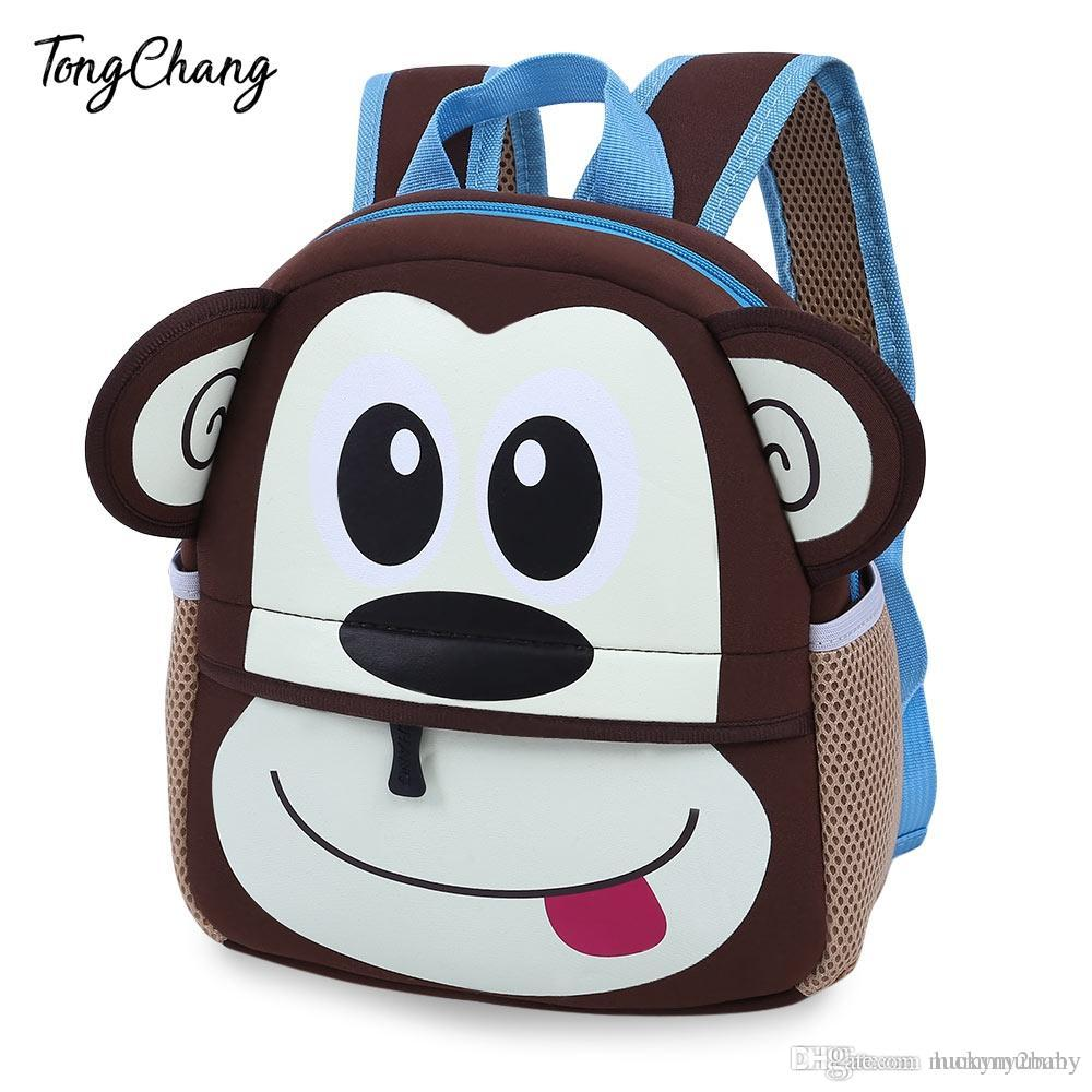 1922e4723c2b Baby Bag Colorful Cartoon Animal Design Waterproof Durable School ...