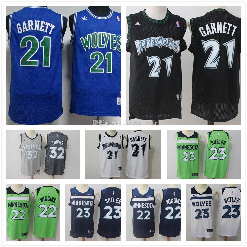 discount minnesota timberwolves jersey 21 kevin garnett jersey 32 karl  anthony towns 23 jimmy butler jersey c4221aa44