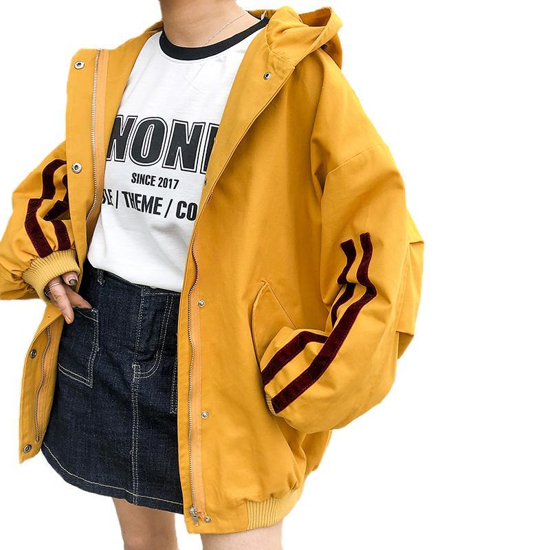 ca98e261a81d Осень с капюшоном женская куртка свободные уличная верхняя одежда для  женщин 2018 ...