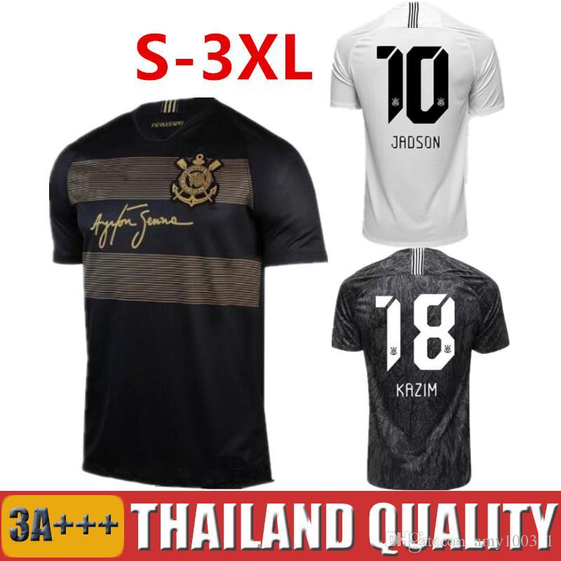 37a5d2d0439 Thai Quality 2018 2019 Brazil Corinthian Paulista Soccer Jersey 18 ...