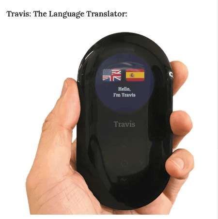 Travis the Translator Touch screen smart translator offline online 80  language translation Interpreter Travel abroad