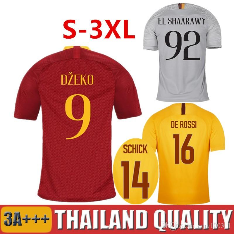 4b69c20f1 18 19 DZEKO PEROTTI Soccer Jerseys TOTTI Home Red Football Shirt DE ...