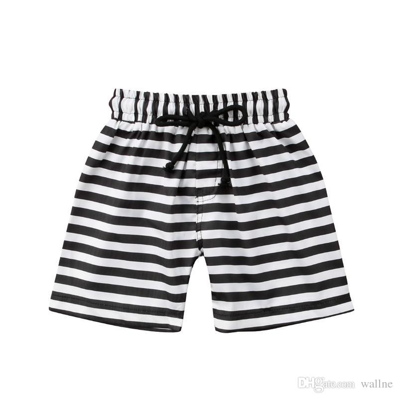 1d89fc5ea8 2018 Boys Beach Shorts Striped Floral Kids Swimming Trunks Children ...