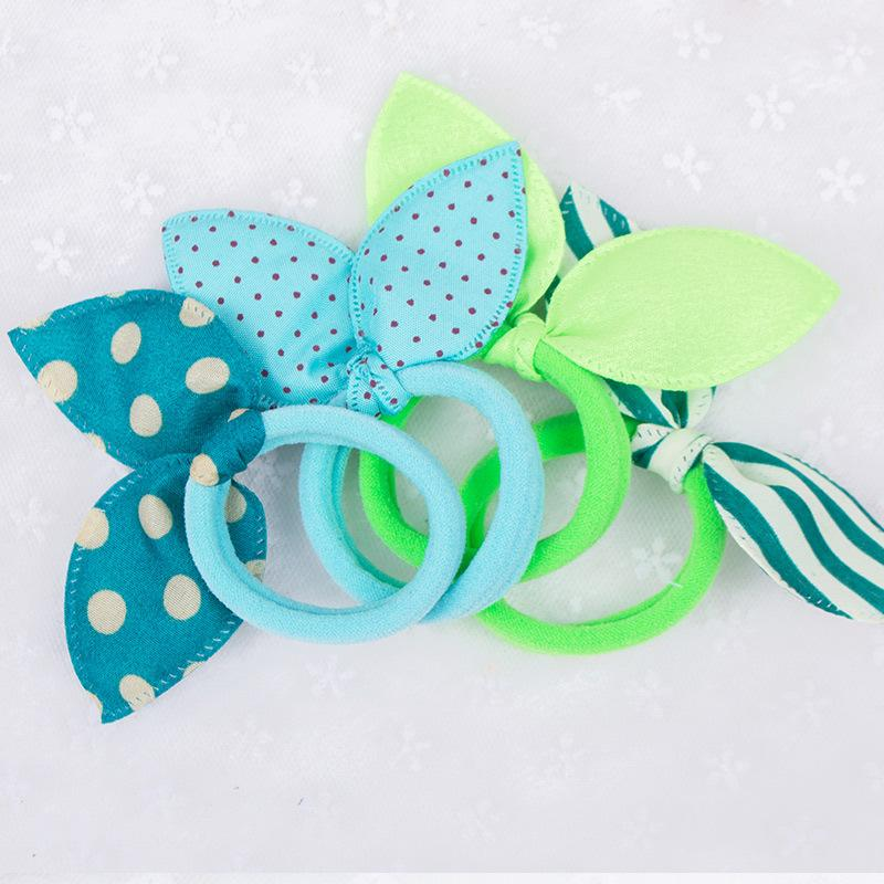 Girls Headwear Mix Styles Bow Dot Elastic Hair Bands Rabbit Ears Hair Accessories Ponytail Holder Rubber Bands Ropes
