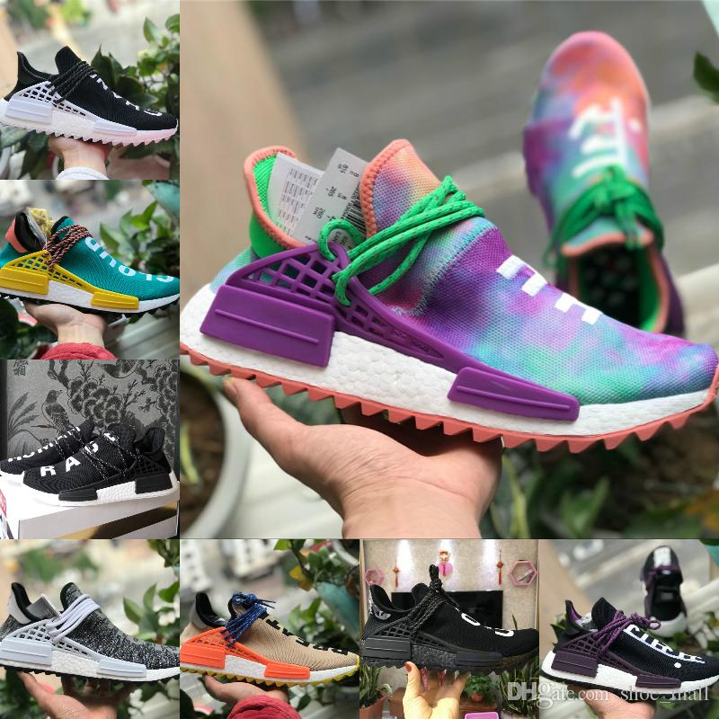 2018 New Pharrell Williams Human Race Nmd Men Women Sports Shoes Black  White Grey Red Nmds Primeknit PK Runner XR1 R1 R2 Sneakers Racing Shoes  Good Running ... 8080f31f9