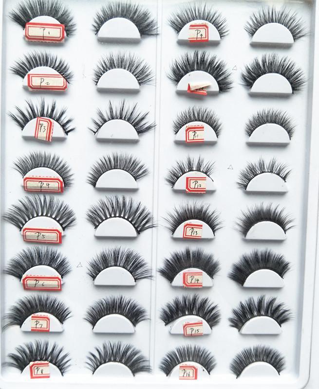 Seashine 3D Mink Cílios HandMade Cílios Postiços de Longa duração Cílios Falsos Tira Cheia de Olhos Falsos Lashes Ferramentas de Extensão