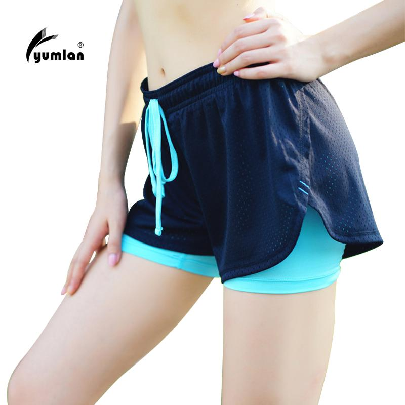 2019 Women Running Shorts Sport Fitness Yoga Shorts 2 In 1 Women Athletic  Cool Ladies Sport Female Fitness Clothes For Jogging From Ranshu c945fe418c