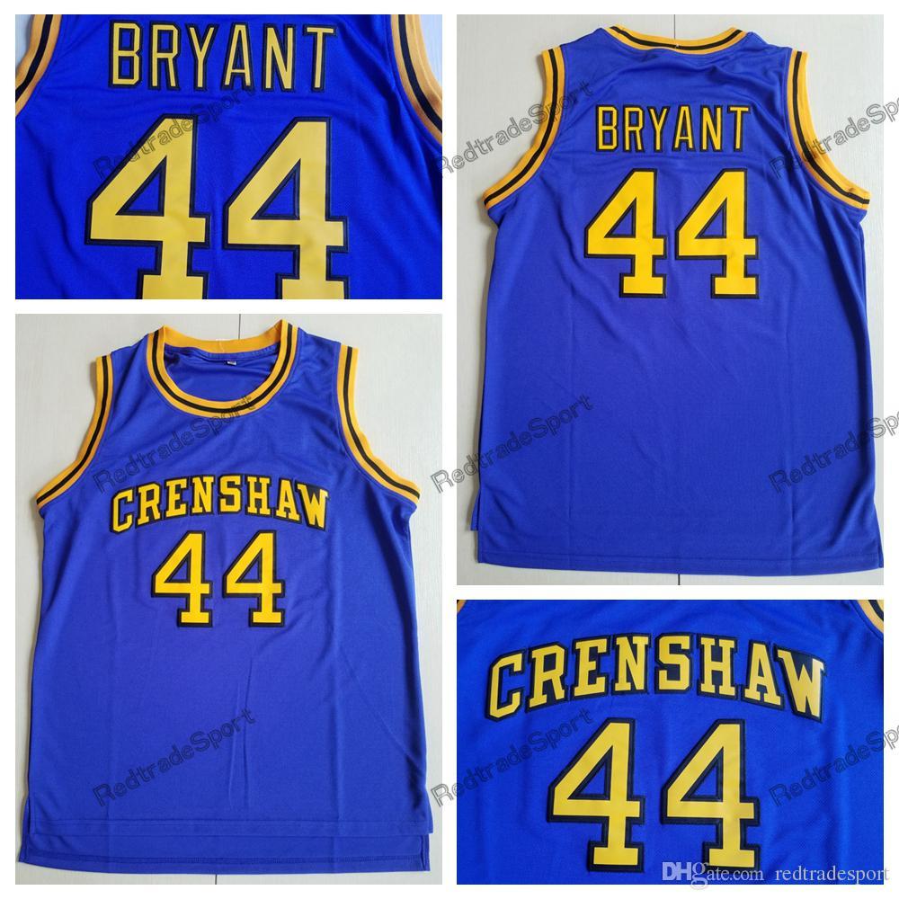 wholesale dealer c01c4 49b37 Mens Cheap #44 Kobe Bryant Jersey Crenshaw High School Movie Love Stitched  Jerseys TERRY Hightower Crenshaw Kobe Bryant Basketball Jerseys