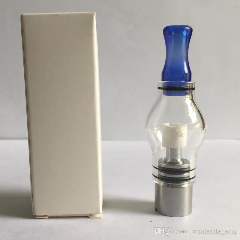 Lampadina Style Glass Globe Cera atomizzatore Single Dual ceramica quarzo cotone Bobine Secco Erbe vaporizzatore Serbatoio sostituzione della bobina l'ego T Evod Batteria