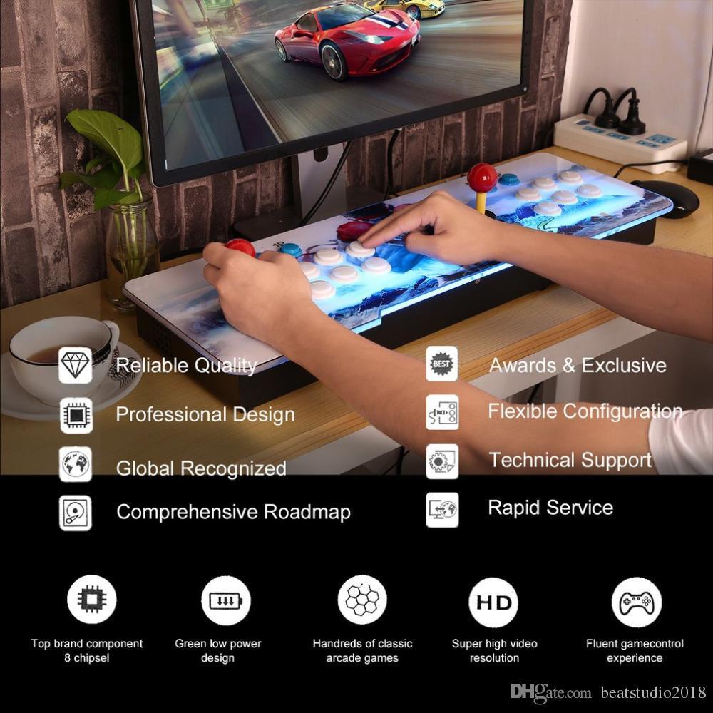 800 in 1 Video Game Arcade Console Android Machine Double Stick Pandora s  Key EU Plug Korean for Home Party KTV Bar MIMU TV PC