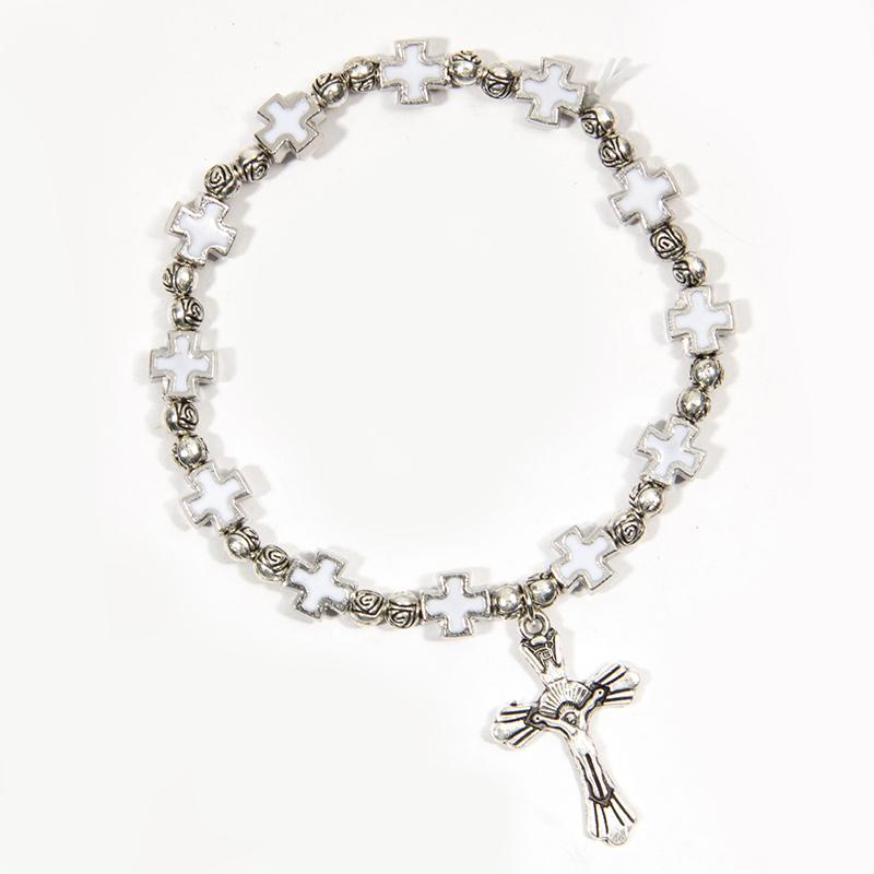 Elastic Alloy Fashion Alloy Bracelet Bracelet Jesus Jewelry Rosary  Centerpiece Sacred Mercy Jesus Saint Icons Religious