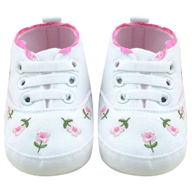 Девочка обувь белое кружево цветочные вышитые мягкие туфли Prewalker ходьба малышей детская обувь 5 пар/10 шт.
