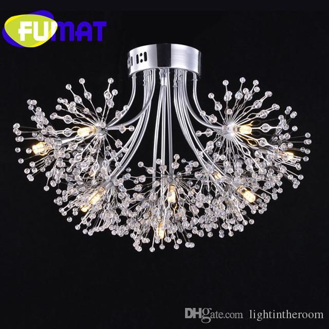 Fumat Led Ceiling Fans Crystal Light Dining Room Living: FUMAT Modern LED Crystal Ceiling Light Living Room Dining