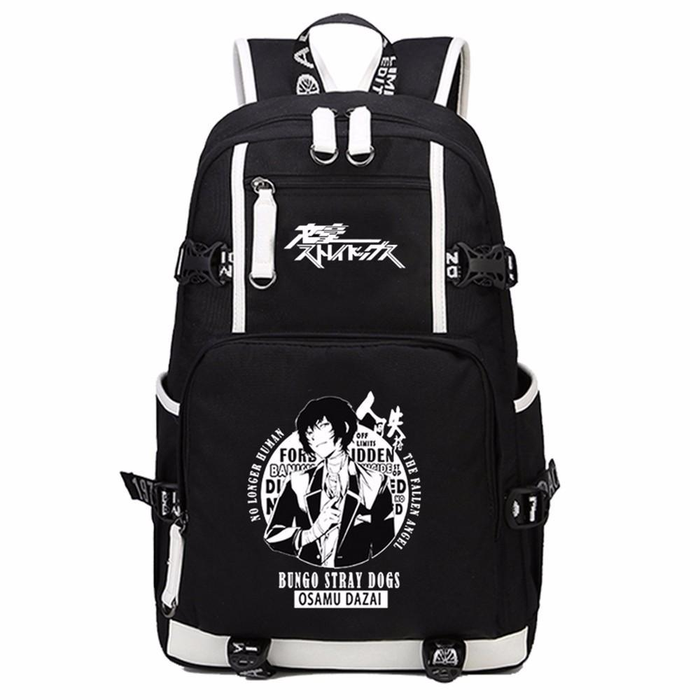 Zshop bungou stray dogs backpack anime teenage girl boy school bags atsushi nakajima dazai osamu leisure school backpack camping backpacks cheap backpacks