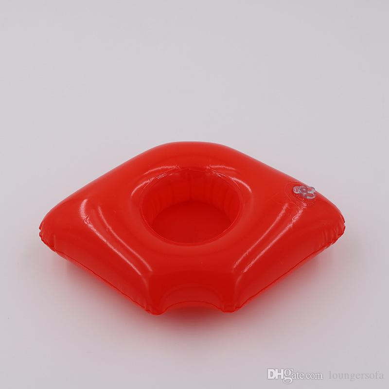 Inflatable Cups Holder Hot Selling Gules Lips Red Water Coaster Pool Float Drink Cup Seat Summer Beach Toys 1 5xr X