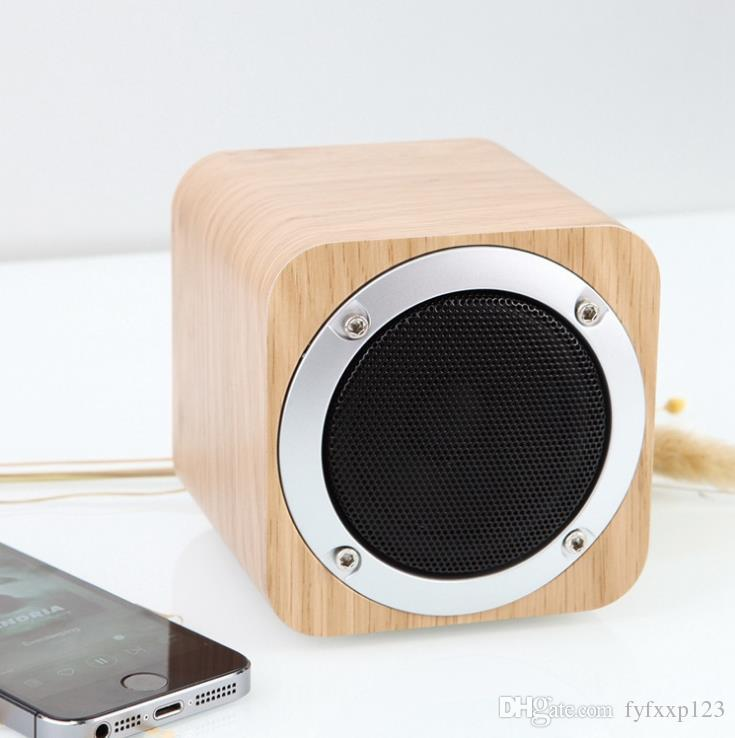 Multimídia de madeira bluetooth speaker mãos-livres micphone com fm rádio despertador tf / usb mp3 player retro caixa de madeira subwoofer de bambu