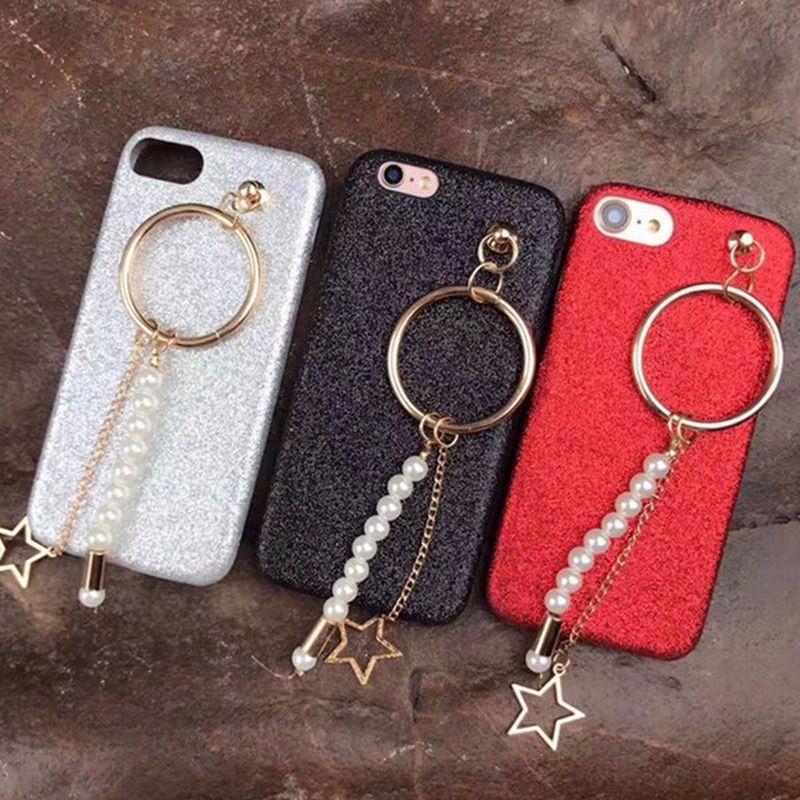 6c34e268a0fc1b Coque Pour Telephone Portable Pour Iphone 8 Plus Cas De Luxe Femme Perle  Bracelet Dur Coque Pour Iphone 7 Plus Strass Mobile Téléphone Sac Coque De  ...