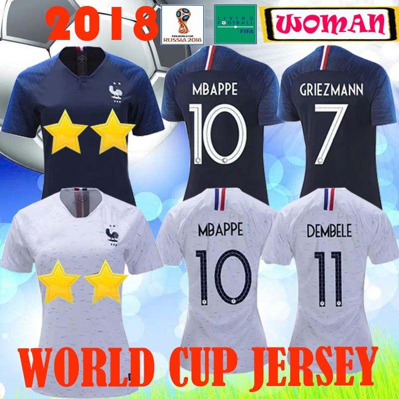 release date: 27693 16f4d Thaialnd GRIZEMANN POGBA Women soccer jerseys 2018 2019 World Cup jersey  Mbappe DEMBELE 18 19 jersey Maillot Camisa football woman shirt