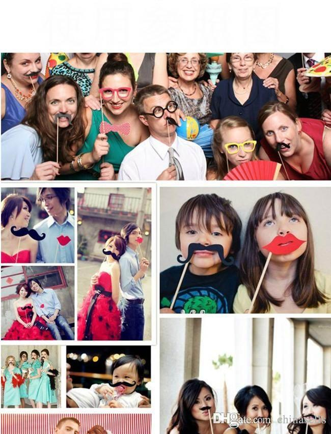Christmas party Photo Props Moustache Hat Small Eyes Paper Beard Wedding Party Supplies Bachelorette Party Photo Booth toy