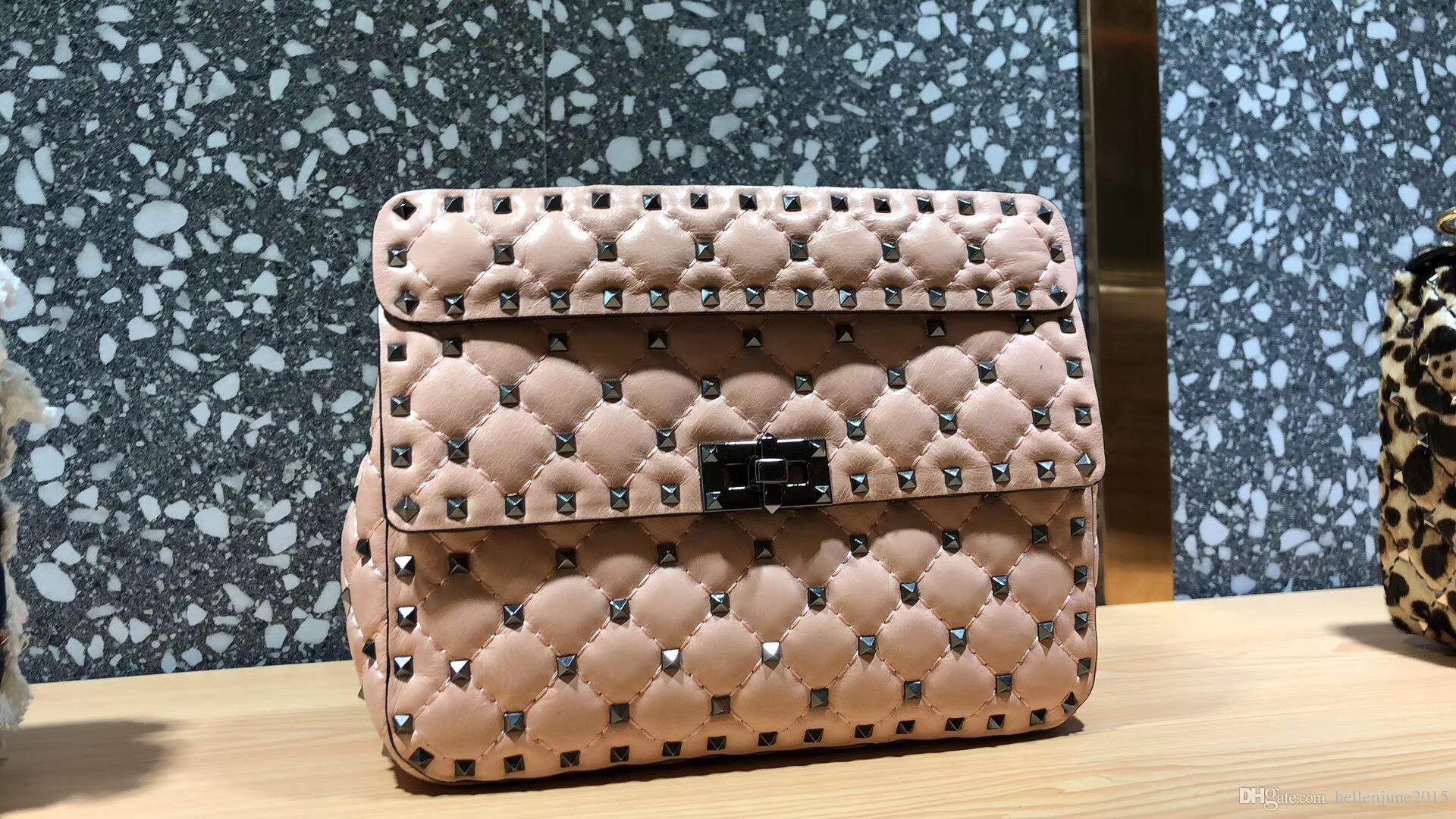 66e7d098aa63 18 New Model Europe Luxury Style Classic Women Messenger Fashion Bag  Diamond Check Women Handbag Mini Shoulder Bag Rivet Decoration Leather Totes  Jo Totes ...