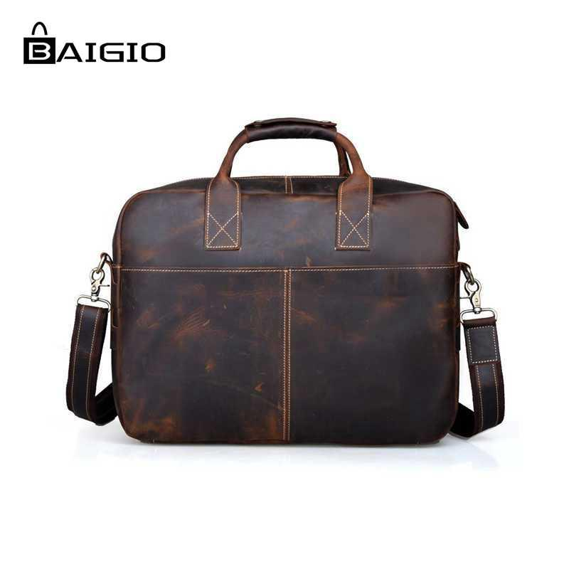 eb9ed96199f Baigio Leather Briefcase 17