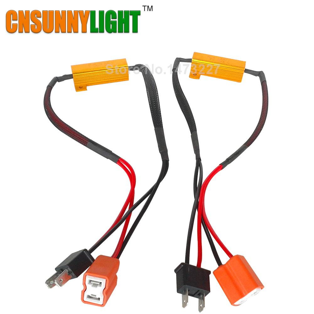 Peachy 2019 Cnsunnylight Led Bulb Decoder Resistor Canbus Wire Harness Wiring Cloud Rectuggs Outletorg