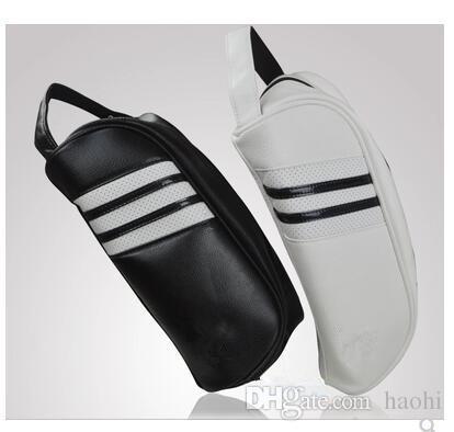 Özel logo moda marka golf ayakkabı çantası pu deri beyaz siyah golf ürünleri açık havada spor ayakkabı çanta ücretsiz kargo en kaliteli erkek ...