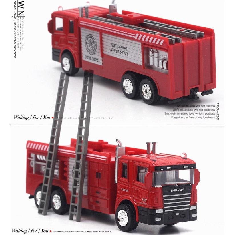 1/43 Échelle Pompe À Incendie Diecast Alliage Modèle Pull Back Car Enfants jouets cadeaux