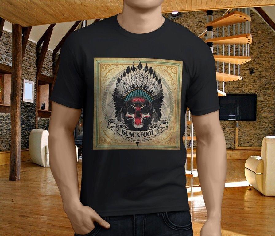 Southern  T Shirt Designs | Cool T Shirts Designs O Neck Blackfoot Southern Native Rock Band