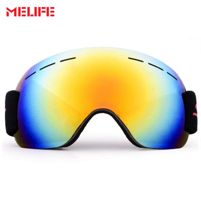 53cbf0f83e6 MELIFE Men Women Ski Glasses UV400 Anti-Fog Dustproof Sports ...