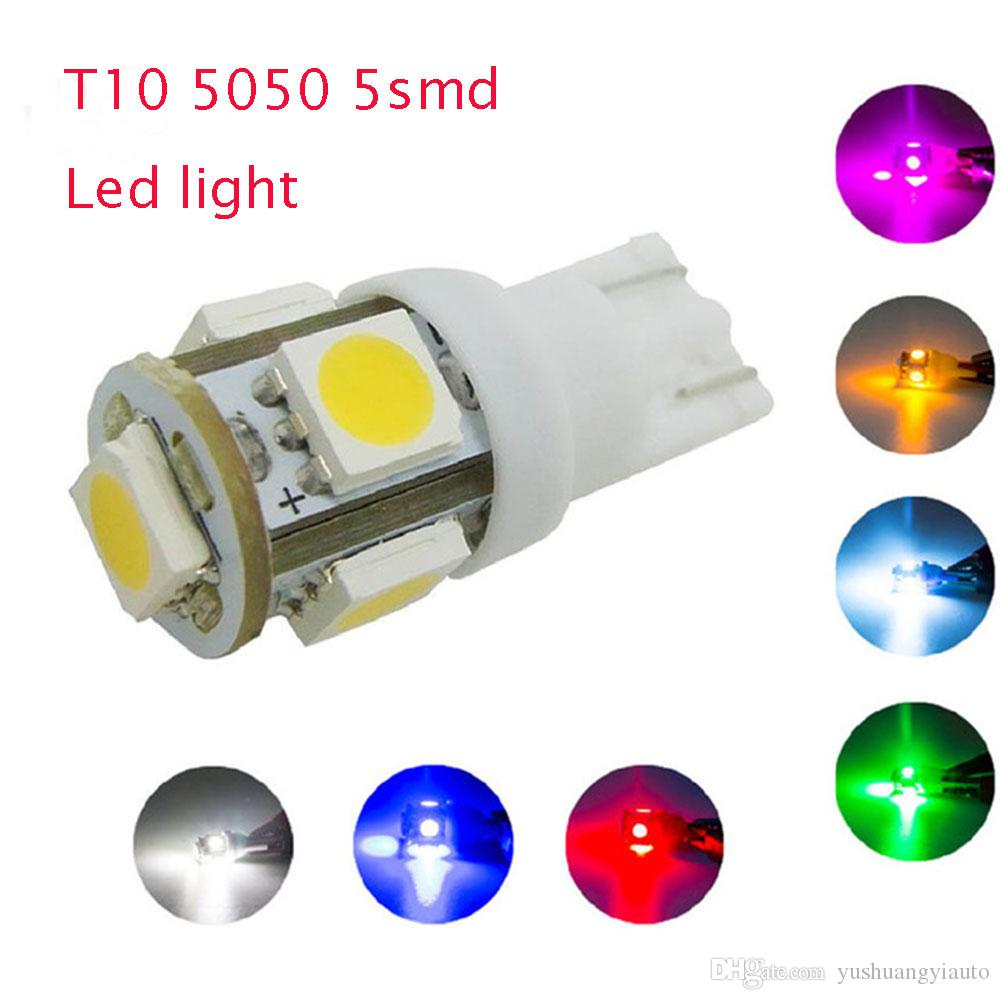 Led Auto Lights >> 20x T10 5smd 5050 194 168 2450 2921 Wedge Car Bulbs For Side Lights