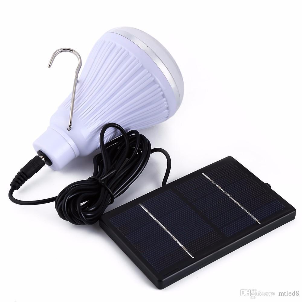 Lámpara de seguridad para el hogar con luz solar LED de 20 LED para exteriores / interiores Lámpara regulable con luz solar mediante control remoto Iluminación de viaje de campo