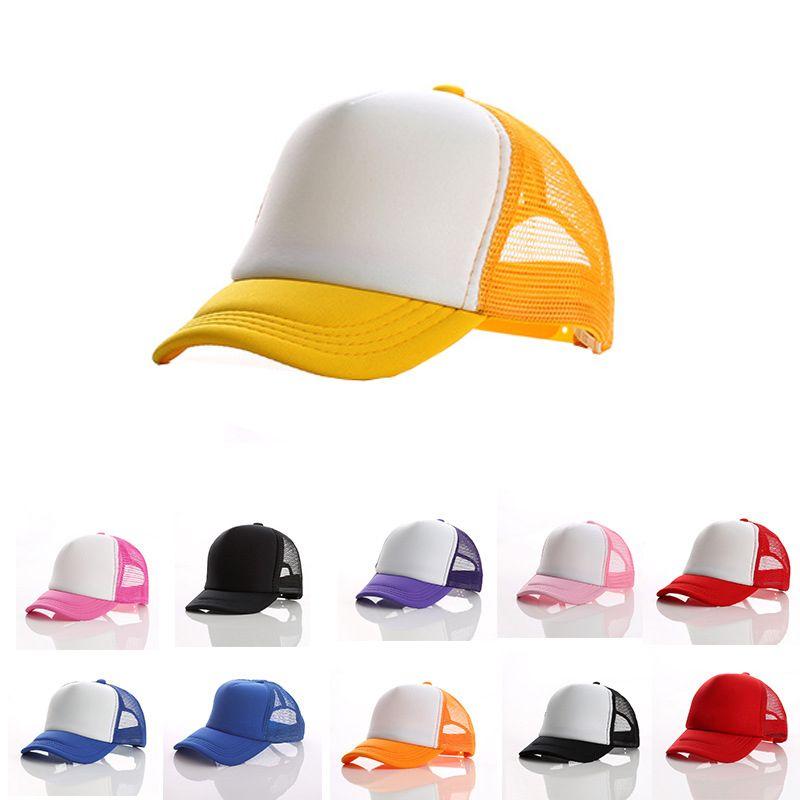 f0d71df3 Kids Trucker Cap Children Mesh Caps Blank Trucker Hats Snapback Hats  Baseball Caps 53 56cm Many Colors Lids Hats Visors From Shunhuico, $1.62|  DHgate.Com