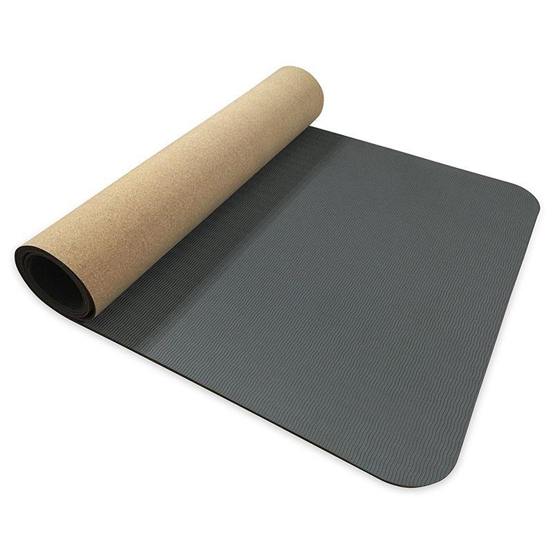 Compre 5mm Antideslizante TPE + Cork Marca Yoga Mats Para Fitness Pilates  Gimnasia Natural Mats Sport Yoga Pastillas De Ejercicio Masaje A  46.27 Del  ... 4f17886005aa