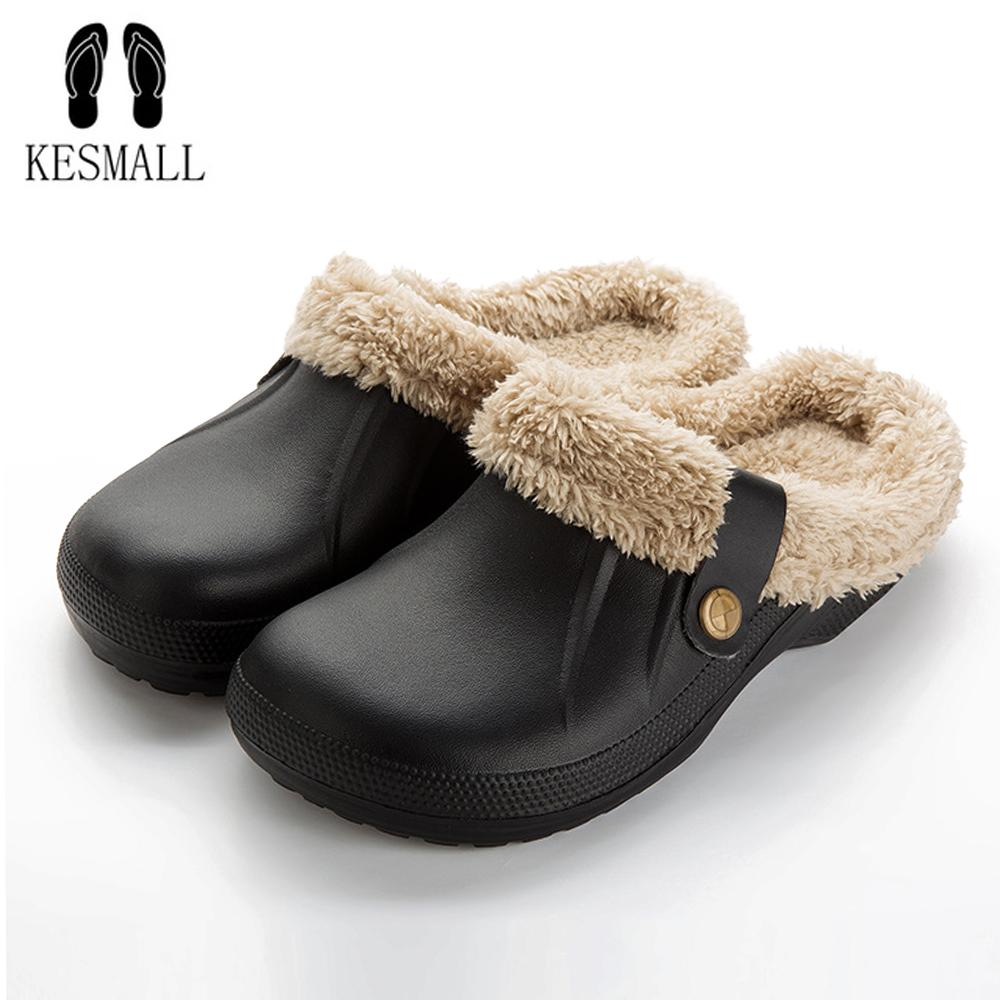 Wholesale Winter Men Slippers Soft Plush Shoes Casual Crocus Clogs With Fur  Fleece Lining Home Floor Warm Men S Sandals Slipper Slippers For Women  Cheap ... fdc833387