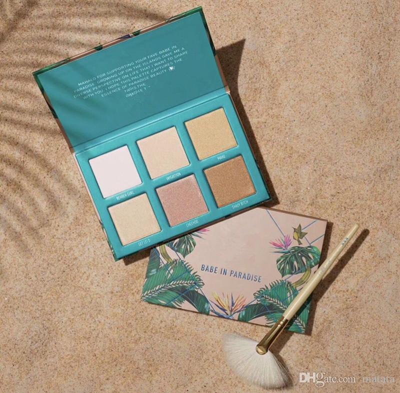 Yeni Marka makyaj Yüz Fosforlu 6 renkler Palet Babe Cennette Bronzlaştırıcılar Fosforlu Kalemler Yüksek kalite kozmetik Makyaj DHL kargo