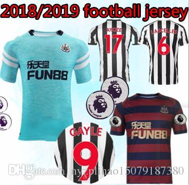 finest selection f9bce 8bf97 18 19 Newcastle United away soccer jerseys 2018 2019 home MITROVIC ATSU  SHELVEY GAYLE AYOZE football uniform jerseys shirts third Rondon