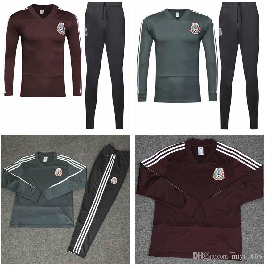 a4627aa3c 2019 2018 World Cup Mexico Soccer Mexico Tracksuit 18 19 CHICHARITO  National Team Football Training Suit Top Long Sleeve Suit Camisetas De  Futbol From ...