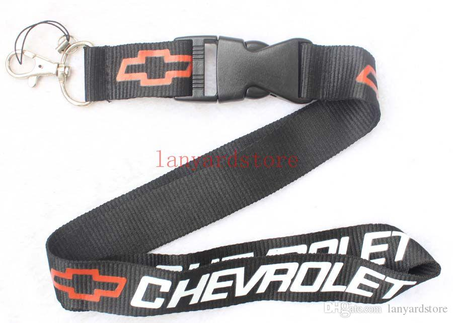 Brand New car logo Cellphone Neck Strap Lanyard for MP3/4 cell phone key chain lanyards Boys Girls Favor Black Colors