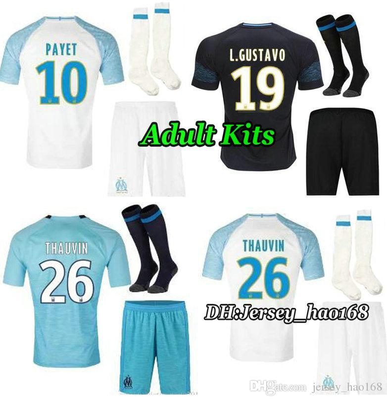 da8c82cebce Adult Kits Olympique De Marseille Kits Jersey 2018 2019 OM Marseille ...