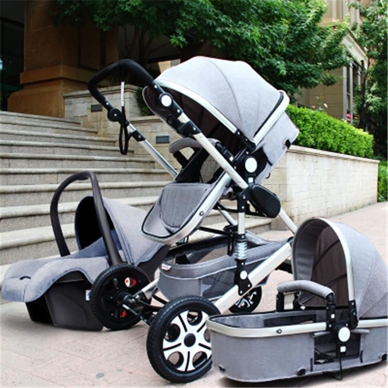 Jt Baby Star Baby Stroller Pushchair 3 In 1 High Landscape Fold Strollers For Children Travel System Prams For Newborns