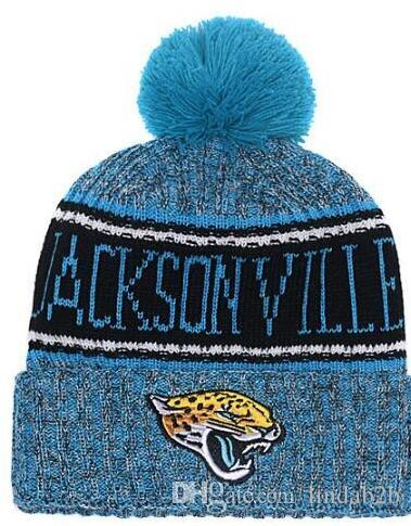 c35a5899bd1 2019 American City All Team Jacksonvill Beanies Sports Pom Hat Men ...